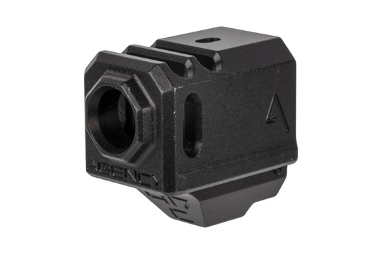 The Agency Arms 417C Glock 43 compensator features a two chamber design for effectively reducing muzzle rise
