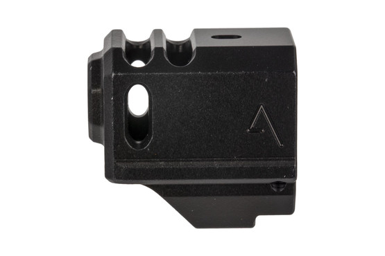 The aAgency Arms 417C compensator has a 1/2x28 thread pitch and is compatible with OEM recoil springs