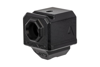 The Agency Arms 417 Glock compensator features a single port and is extremely compact