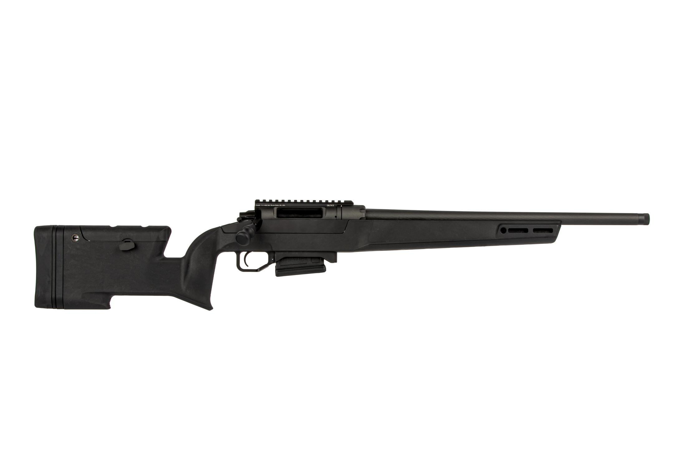 The Daniel Defense Delta 5 rifle is chambered in .308 Winchester with a 20 inch barrel