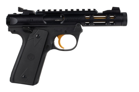 Ruger 2245 MK IV Lite Pistol is chambered in 22lr with a 5.5 inch barrel