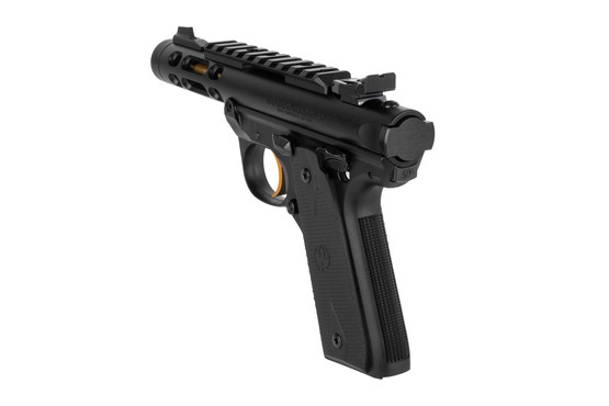 Ruger 22 45 pistol features an integrated picatinny rail