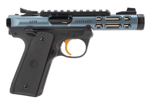 Ruger 22/45 MK IV Lite Pistol features a diamond gray anodized finish