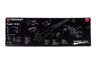 TekMat 44in premium rifle cleaning mat featuring an exploded view of the Ruger 10/22 series of rifles dye sublimated graphic.