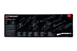 TekMat 44in premium shotgun cleaning mat featuring an exploded view of the Remington 870 series of shotguns dye sublimated graphic.