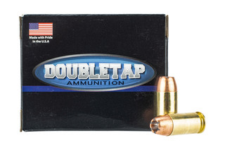 DoubleTap 45 ACP Ammo features a jacketed hollow point 185 grain bullet