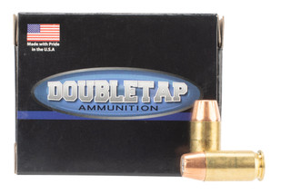 DoubleTap Ammuniition Bonded Defense .45 ACP ammo with 230gr jacketed hollow points in boxes of 20.