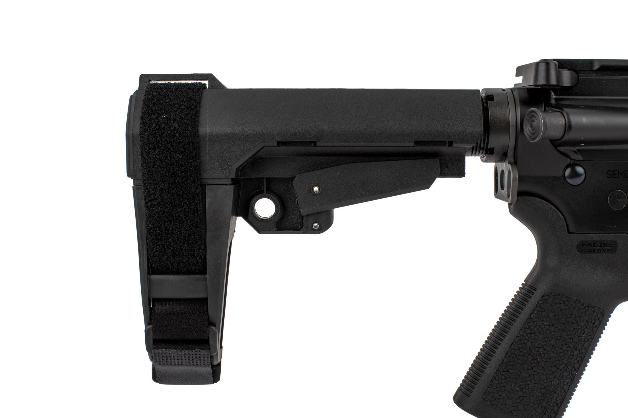 The CMMG Banshee 200 .45 acp AR15 Pistol with RipBrace features an ambidextrous sling loop end plate