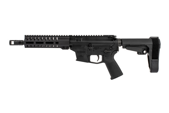 The CMMG MkG Banshee 200 AR Pistol features a flared magazine well