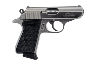 Walther PPK/S 380 ACP pistol features a stainless steel finish