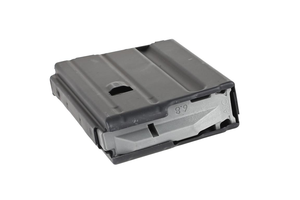 The Ammunition Storage Components 5 round magazine 6.8 SPC features a grey anti-tilt follower