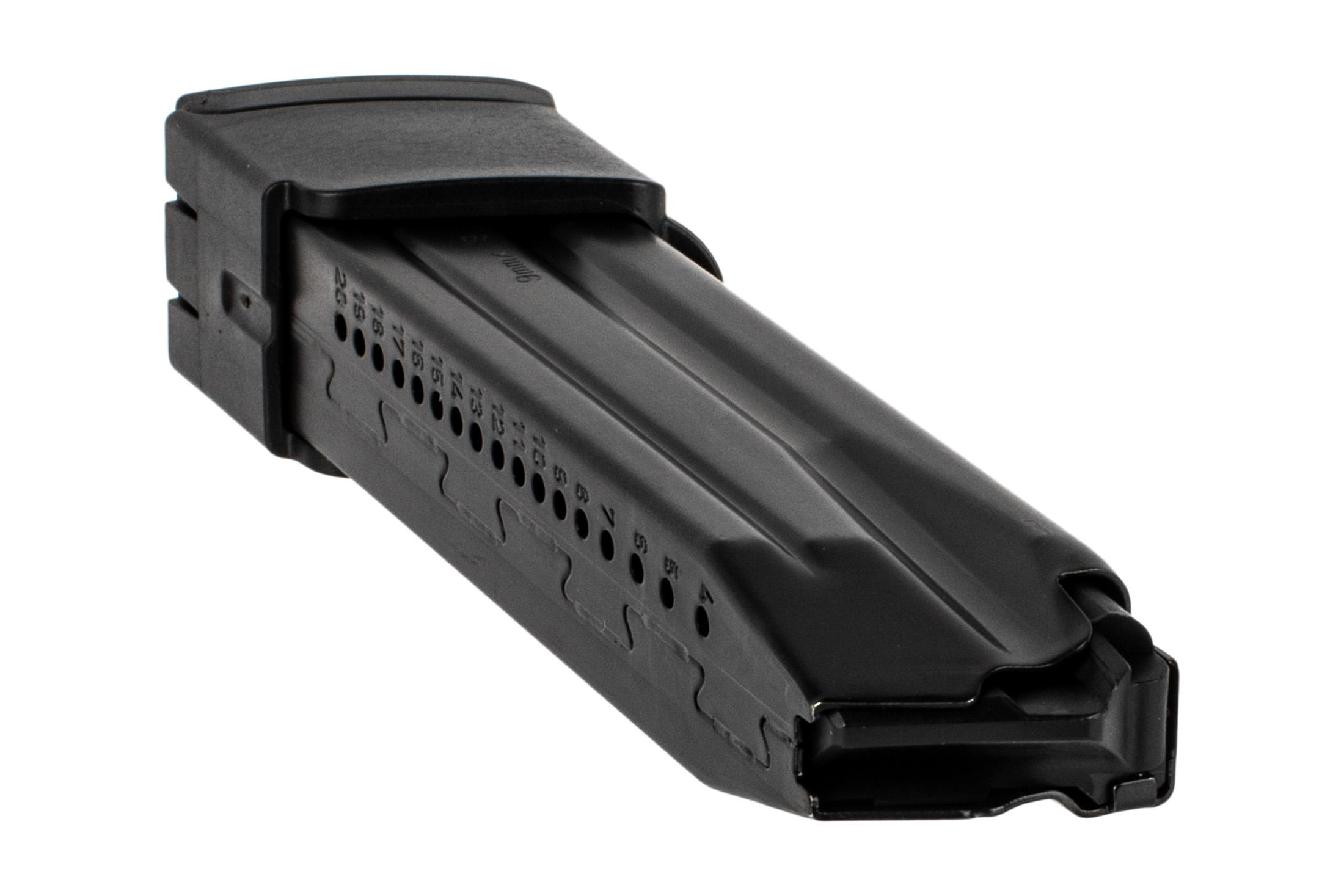 H&K P30 20 round magazine features steel construction and rear witness holes