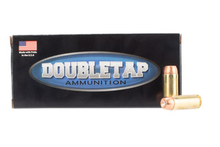 DoubleTap Ammuniition Bonded Defense .50 AE ammo with 300gr jacketed hollow points in boxes of 20.