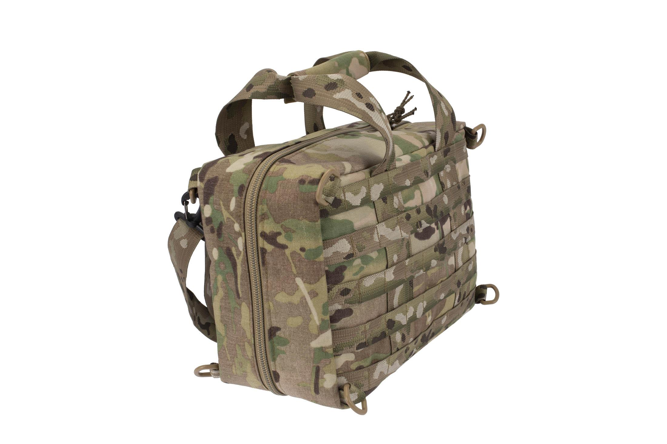 High Speed Gear MultiCam Range Go Bag built from heavy duty 1000D cordura with reinforced bottom for self standing