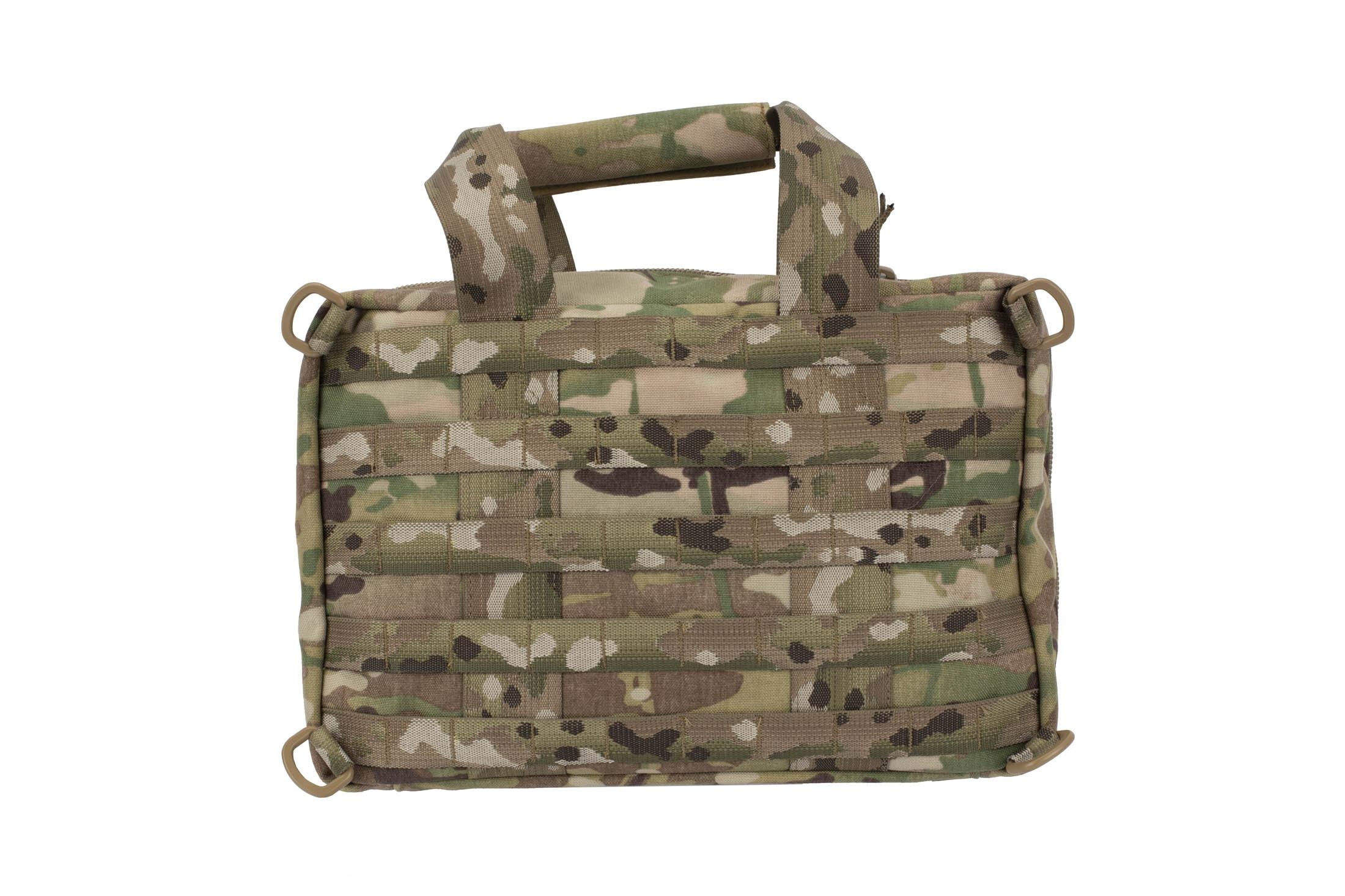 High Speed Gear MultiCam Range Bag features MOLLE 5 rows of MOLLE webbing on both sides for accessory attachment