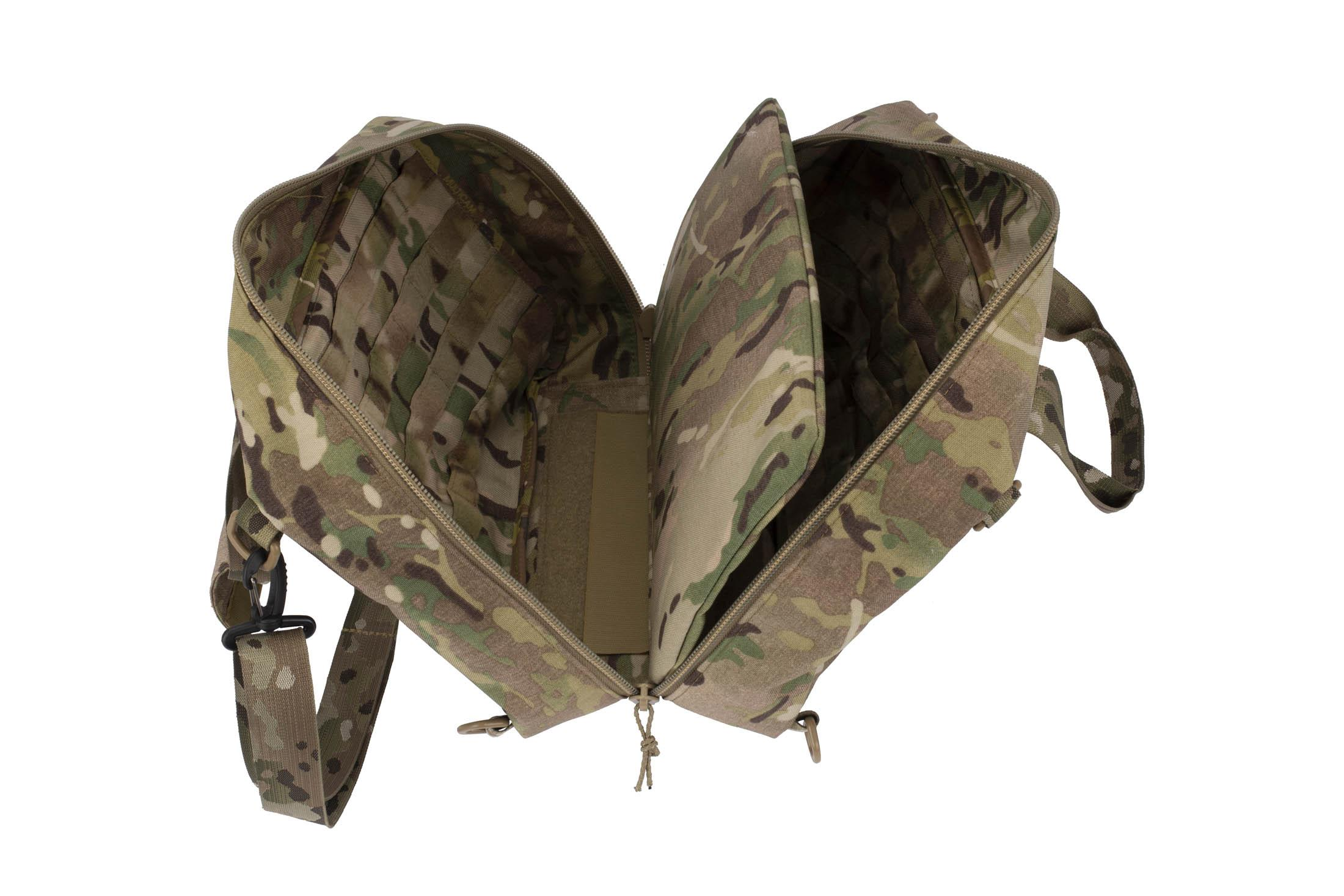 High Speed Gear Range Bag with MultiCam 1000D cordura construction features internal divider for easy organization