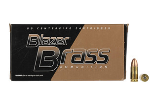 CCI Blazer Brass ammunition is high quality 124gr 9mm ammunition with FMJ ammo for training and practice with 50-rounds per box