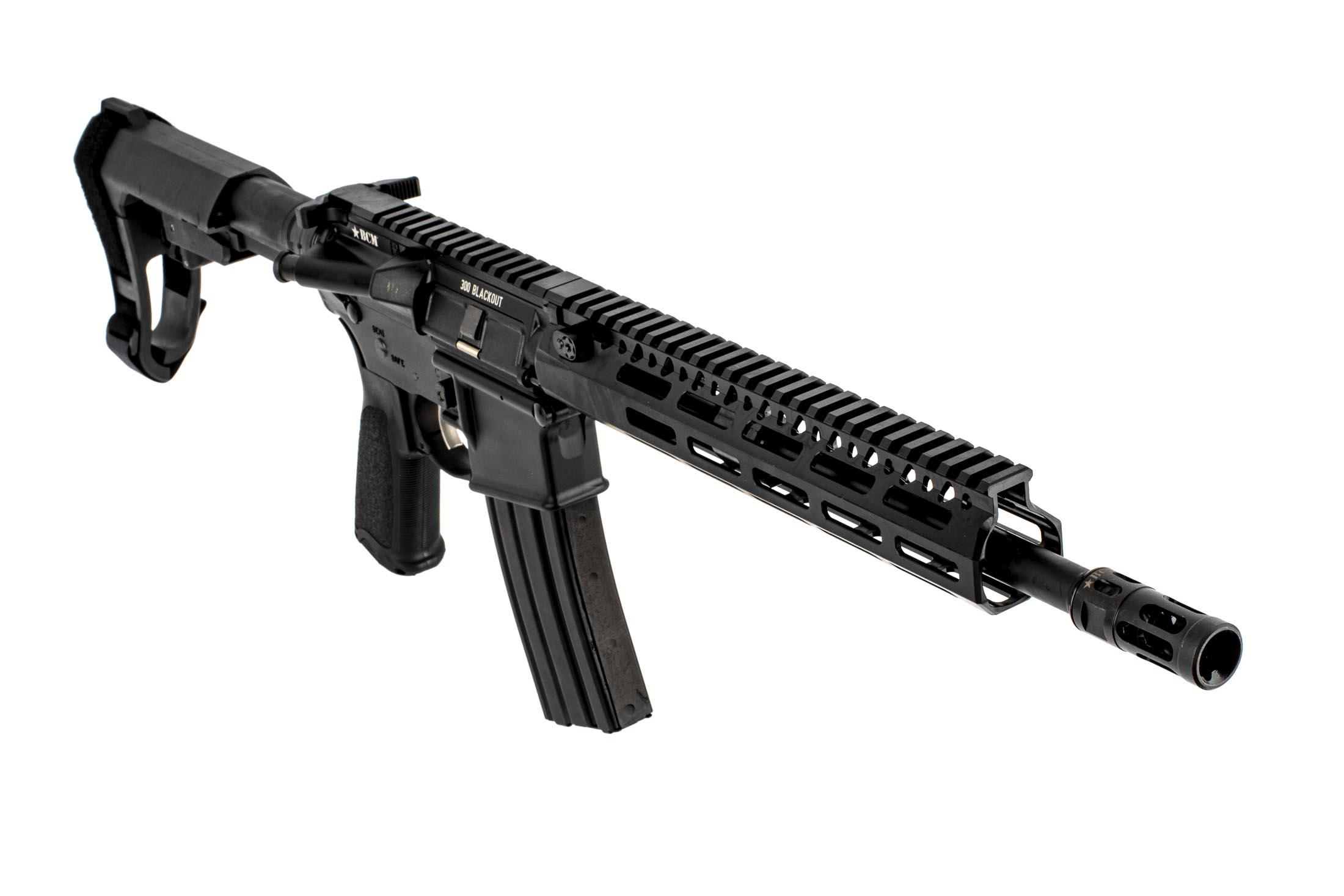 BCM RECCE-12 MCMR 300 BLK with 10in MCMR M-LOK Rail with MOD.0 Compensator