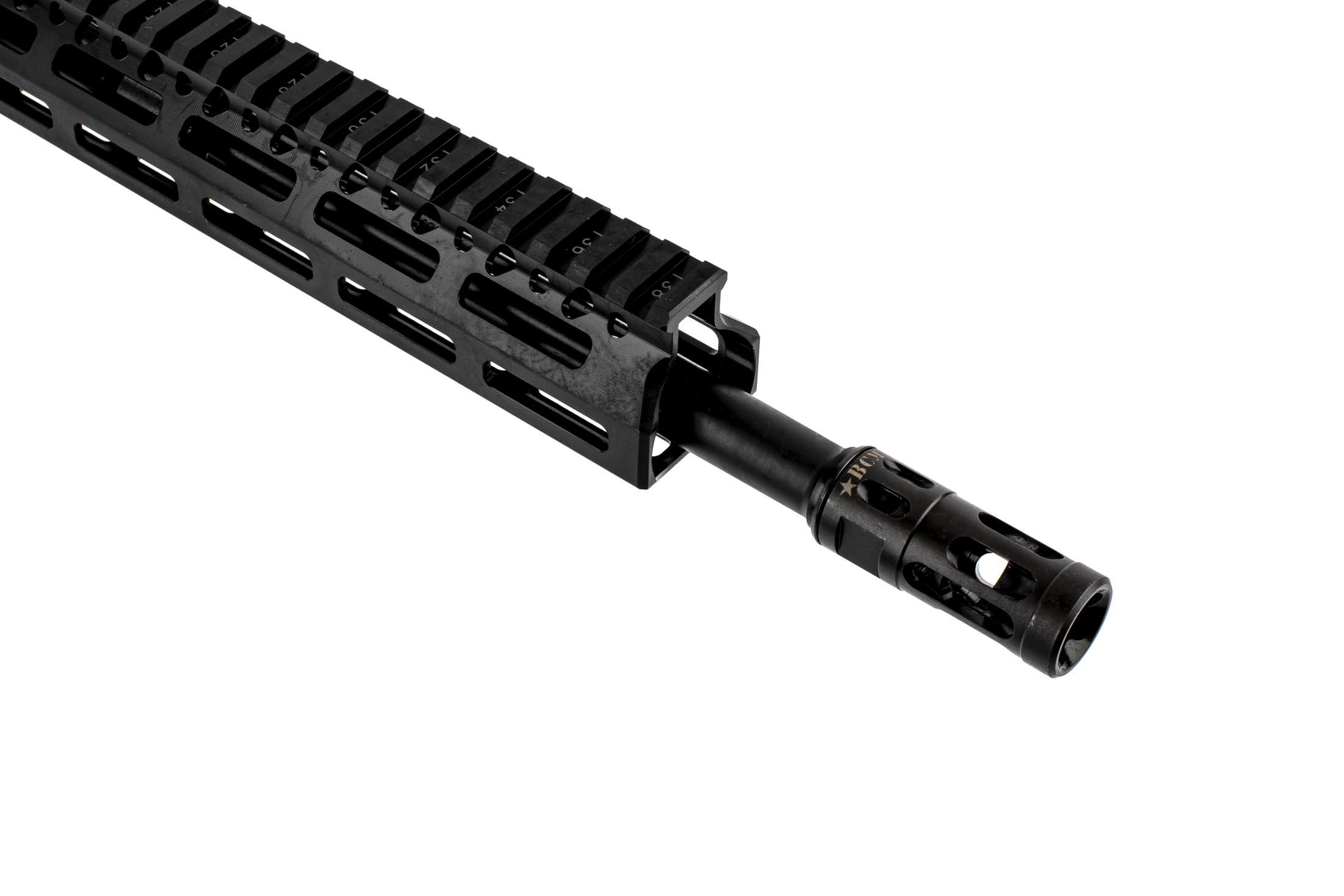 BCM RECCE-12 300 BLK complete rifle with 12.5in barrel is threaded 1/2x28 with a MOD 0 compensator