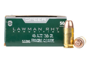 Speer lawman 45 ACP frangible ammo is perfect for training