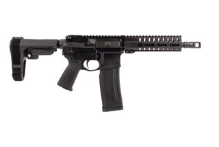"CMMG Banshee 200 Mk57 AR pistol with 7"" 5.7x28mm barrel and collapsible arm brace"