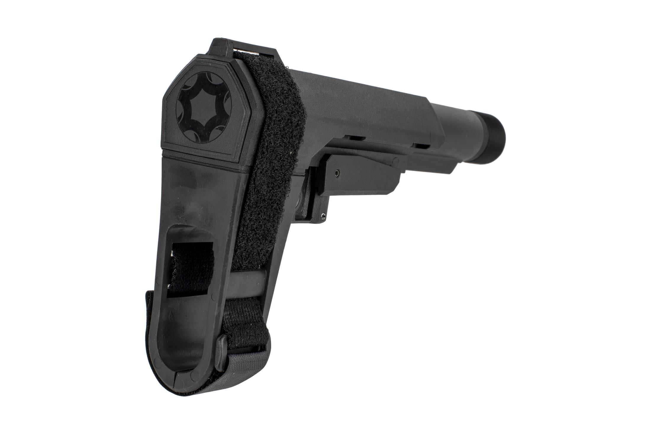 The CMMG RipBrace AR15 arm brace comes with a velcro strap to attach it to your arm