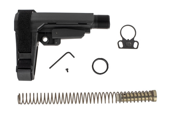 The CMMG RipBrace Standard length comes with a Carbine buffer, recoil spring, receiver extension, and sling endplate