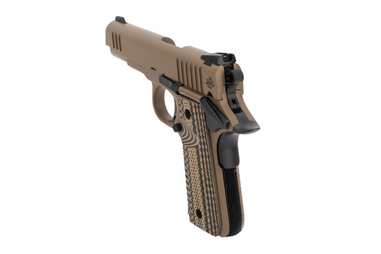 Rock Island 1911 380 ACP handgun features low profile sights