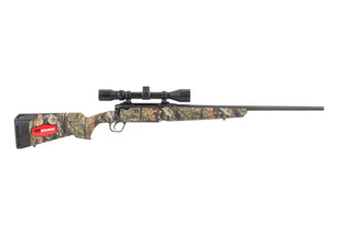 Savage Axis XP Camo 270 Win Bolt Action Rifle has a 22-inch barrel