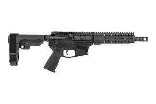 The CMMG Banshee Mk57 200 AR Pistol features an 8 inch barrel chambered in 5.7x28