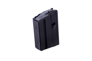 The C Products stainless steel 5 round 6.8 SPC magazine features a grey follower
