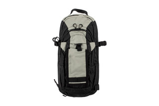 The Grey Ghost Gear TQ hydration pack in black and grey is made from a durable LiteLok Nylon material