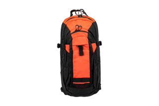 The Grey Ghost Gear TQ Hydration Pack Black and Orange is made from Litelok and Ripstop Nylon material