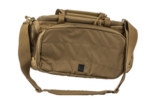 The Grey Ghost Gear Range Bag is made from 500D nylon Cordura and is coyote brown is color