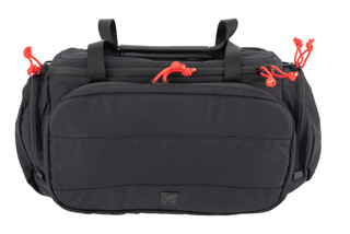 Grey Ghost Gear Range Bag comes in black with red zipper pulls