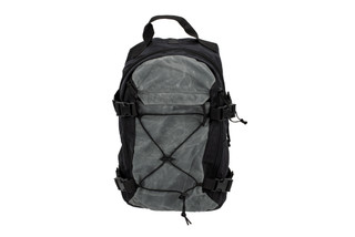 The Grey Ghost Gear Throwback EDC bag features a waxed canvass material in black and grey