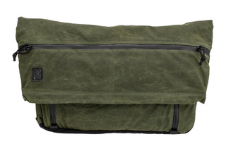 The Grey Ghost Gear Wanderer messenger bag is made from an OD green wax canvas water resistant materialThe Grey Ghost Gear Wanderer messenger bag is made from an OD green wax canvas water resistant m
