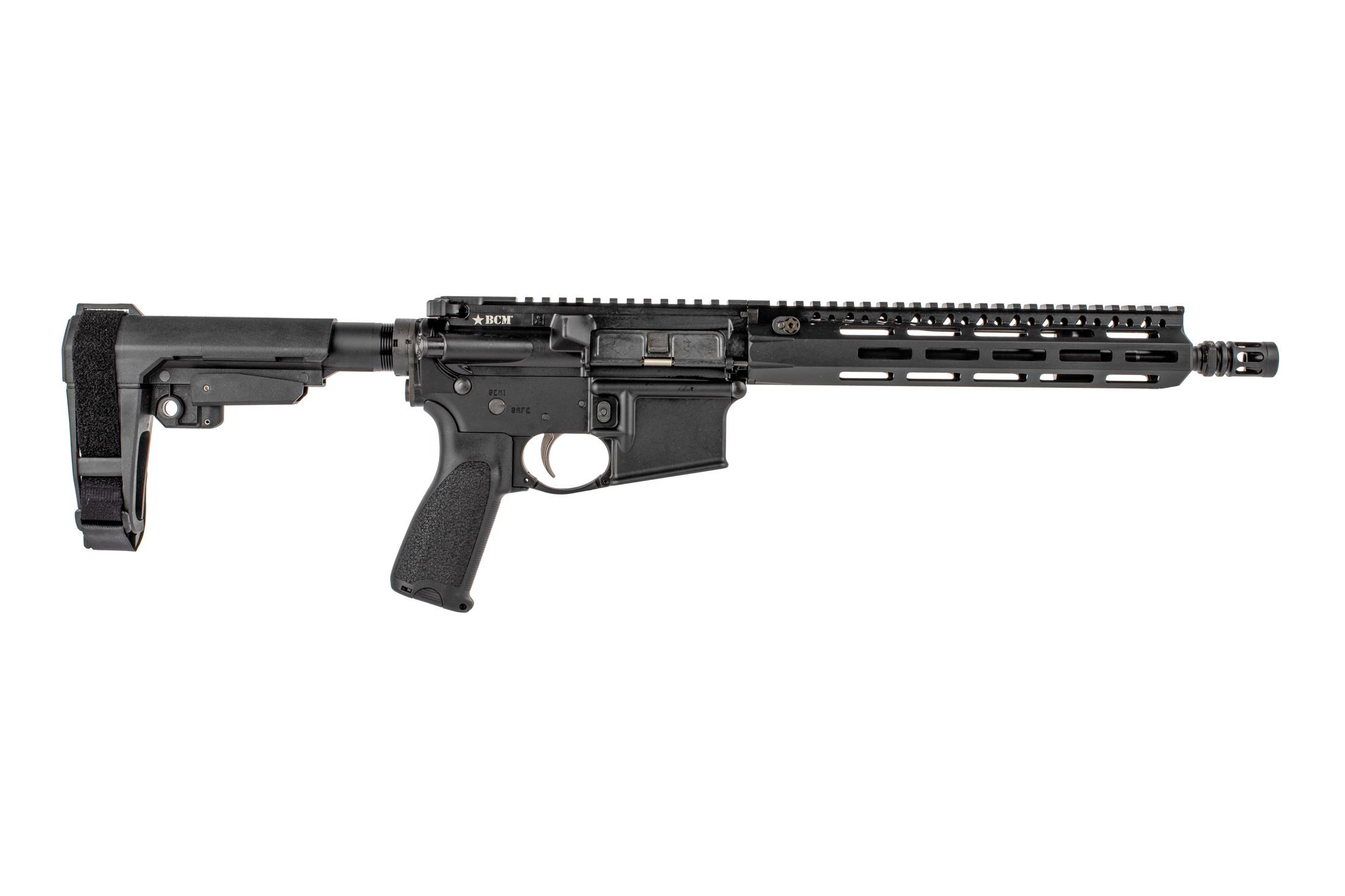 The Bravo Company Manufacturing Recce-11 AR15 pistol is chambered in 5.56 NATO