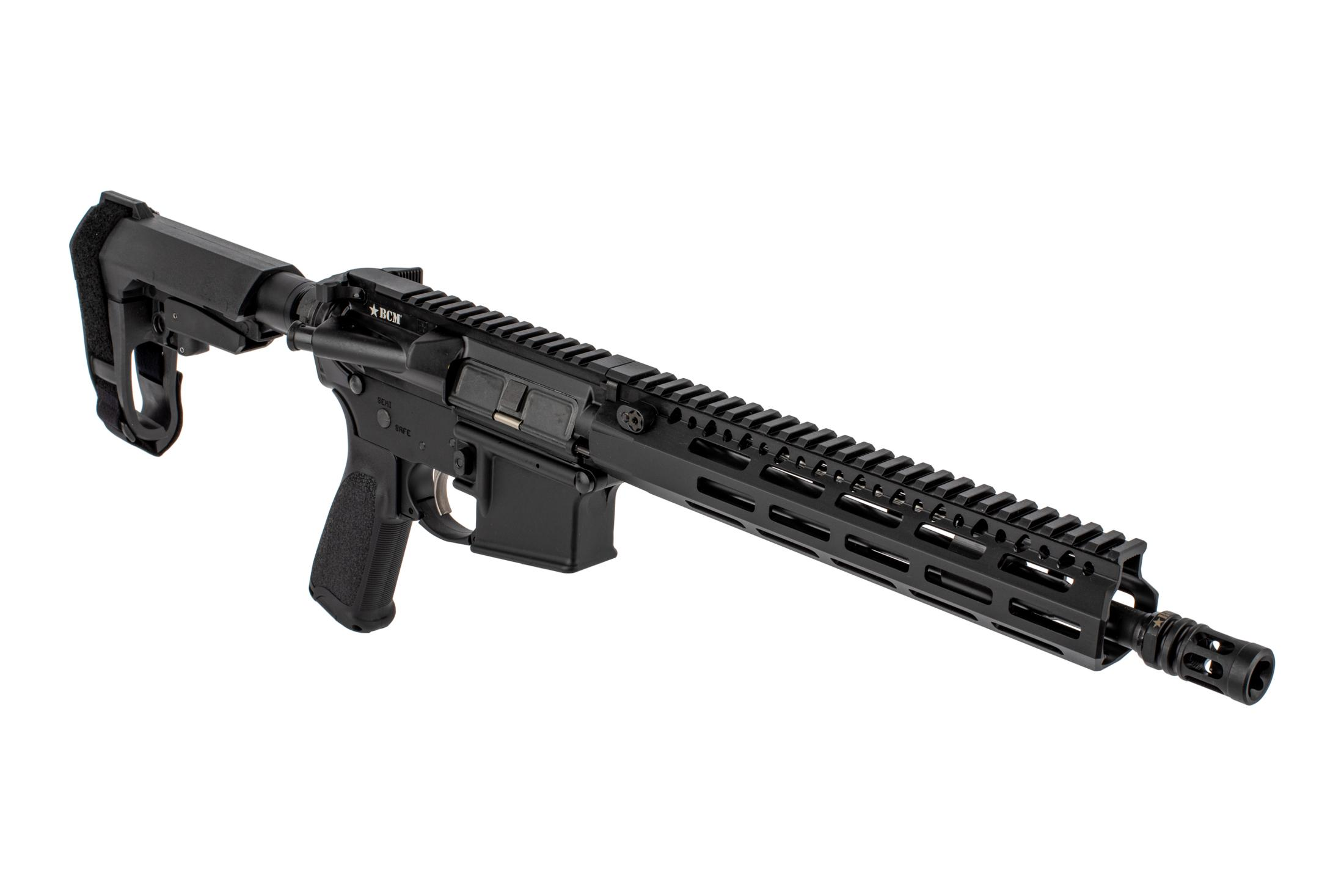 The BCM Recce-11 AR15 Pistol comes with an SBA3 arm brace