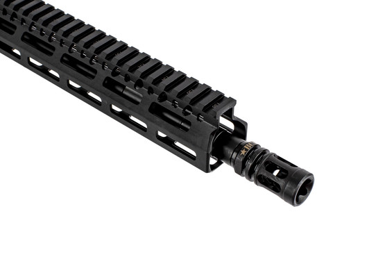 BCM RECCE-11 5.56 NATO complete rifle with 11.5in barrel is threaded 1/2x28 with a MOD 0 compensator
