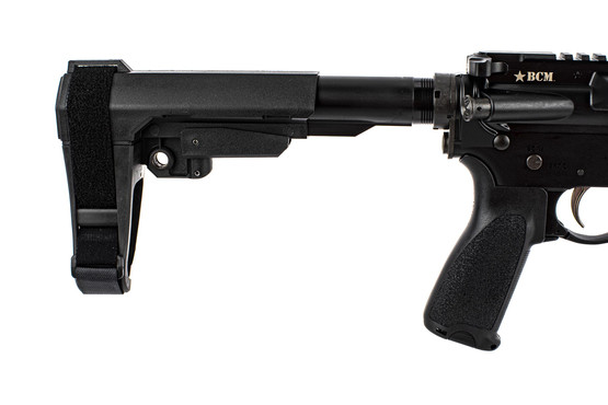 "Bravo Company Manufacturing RECCE-11 M-LOK 11.5"" rifle features a BCM stock, grip, and QD sling end plate."