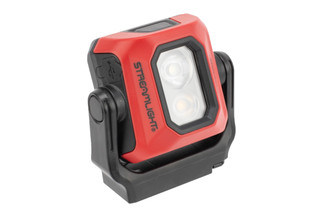 Streamlight Syclone rechargeable magnetic worklight with stowable hook for handsfree work.
