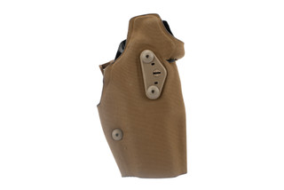 Safariland Glock 19 Optic Tactical Holster 6354DO features a coyote brown finish