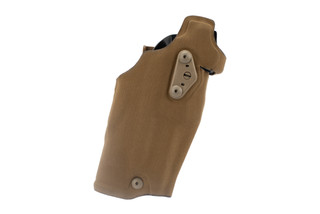 Safariland 6354DO Glock 19 Holster features a Cordura Nylon Coyote Brown finish