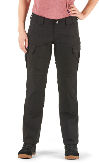 5.11 Women's Tactical Stryke Pant in Black with cargo pockets
