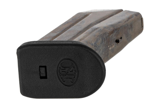 The FN America FNS-9C 9mm magazine features a polymer flush fit base pad