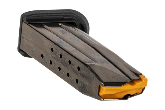 The FN FNS-9C Magazine features rear witness holes and a stainless steel construction