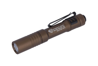 Streamlight MicroStream USB rechargeabe 250 lumen penlight for EDC with Coyote anodized finish.