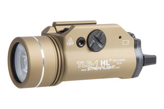 The Streamlight TLR-1 HL tactical weapon light outputs 800 lumens of LED light