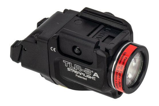Streamlight TLR-8A FLEX weapon light includes both the high and low activation switch